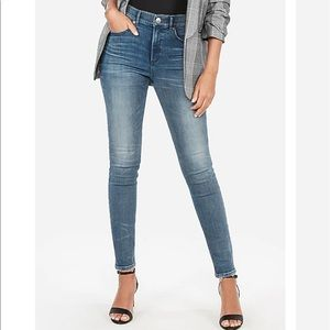 EXPRESS High Waisted Perfect Curves Skinny Jeans